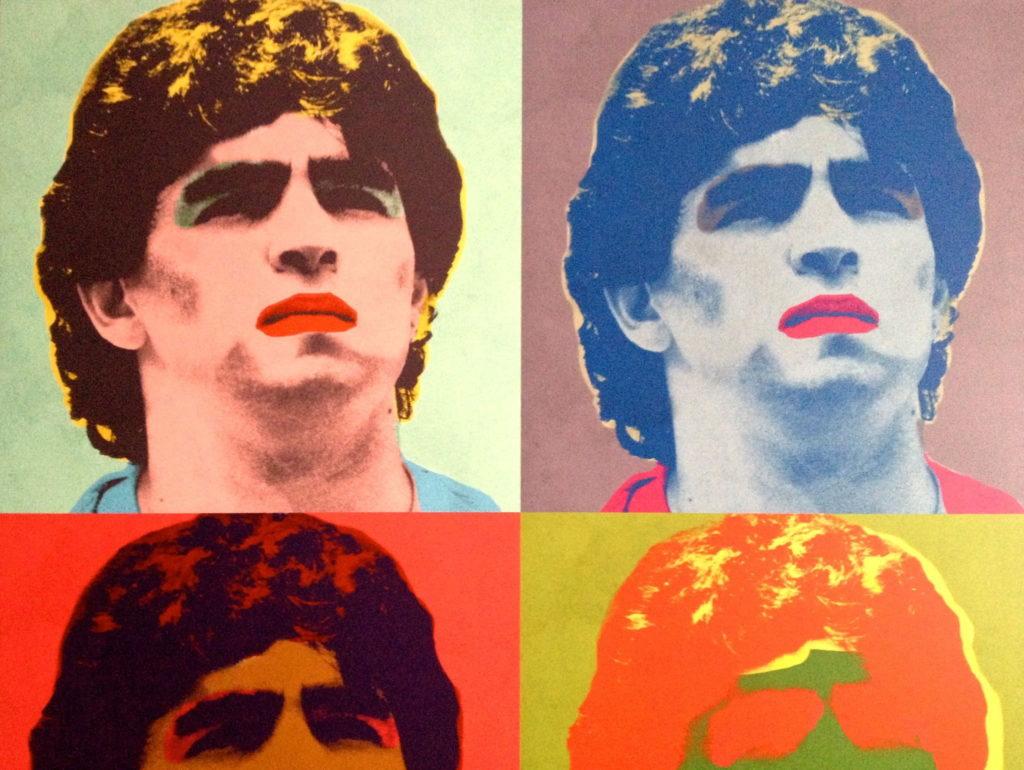 Diego Maradona immaginato da Andy Warhol: genialità e follia?