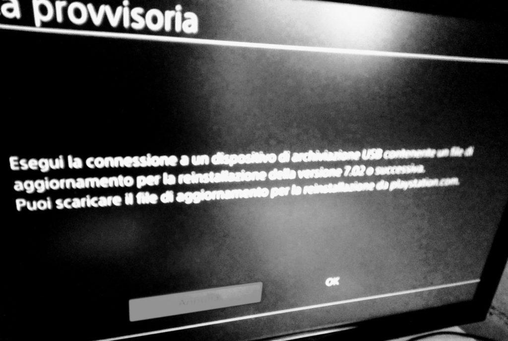 PlayStation4: errore CE-34788-0, aggiornamento del sistema fallito