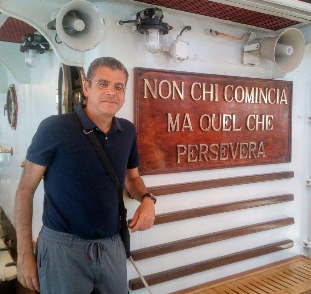 A bordo dell'Amerigo Vespucci