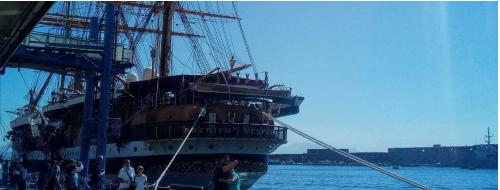 Amerigo Vespucci, la visita di un bimbo che voleva diventare marinaio [FOTO]