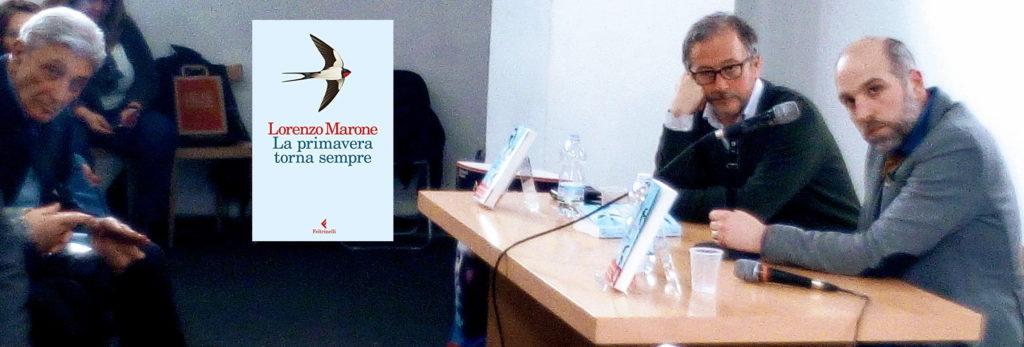 Alla Feltrinelli di Napoli, con Lorenzo Marone (autore di La primavera torna sempre), Diego De Silva e Antonio Bassolino per la presentazione del libro Magari domani resto
