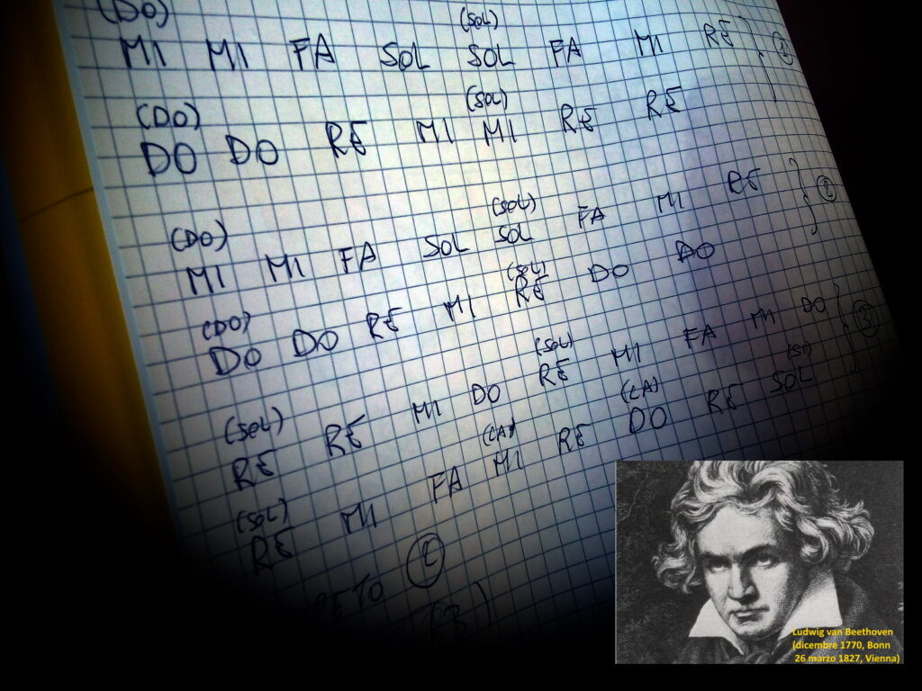 Inno alla gioia: la (mia) trascrizione delle note