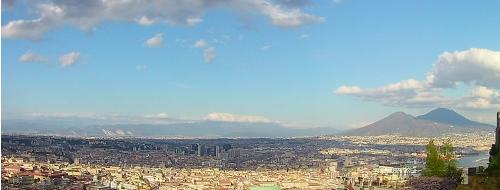 Dalla Pedamentina, nuvole su Napoli [FOTO]